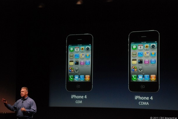 Phil Schiller explains that the new iPhone will have both GSM and CDMA capability.