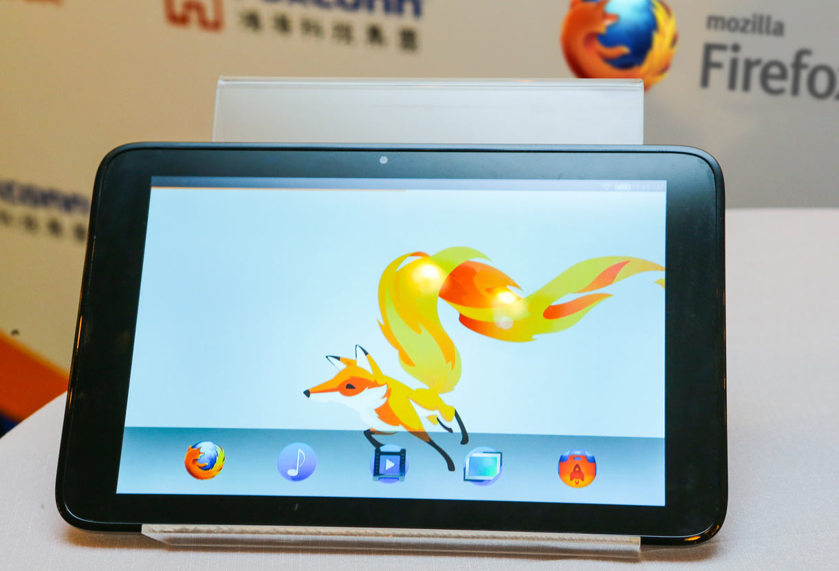 Foxconn showed off this Firefox OS tablet at Computex 2013 in Taiwan.