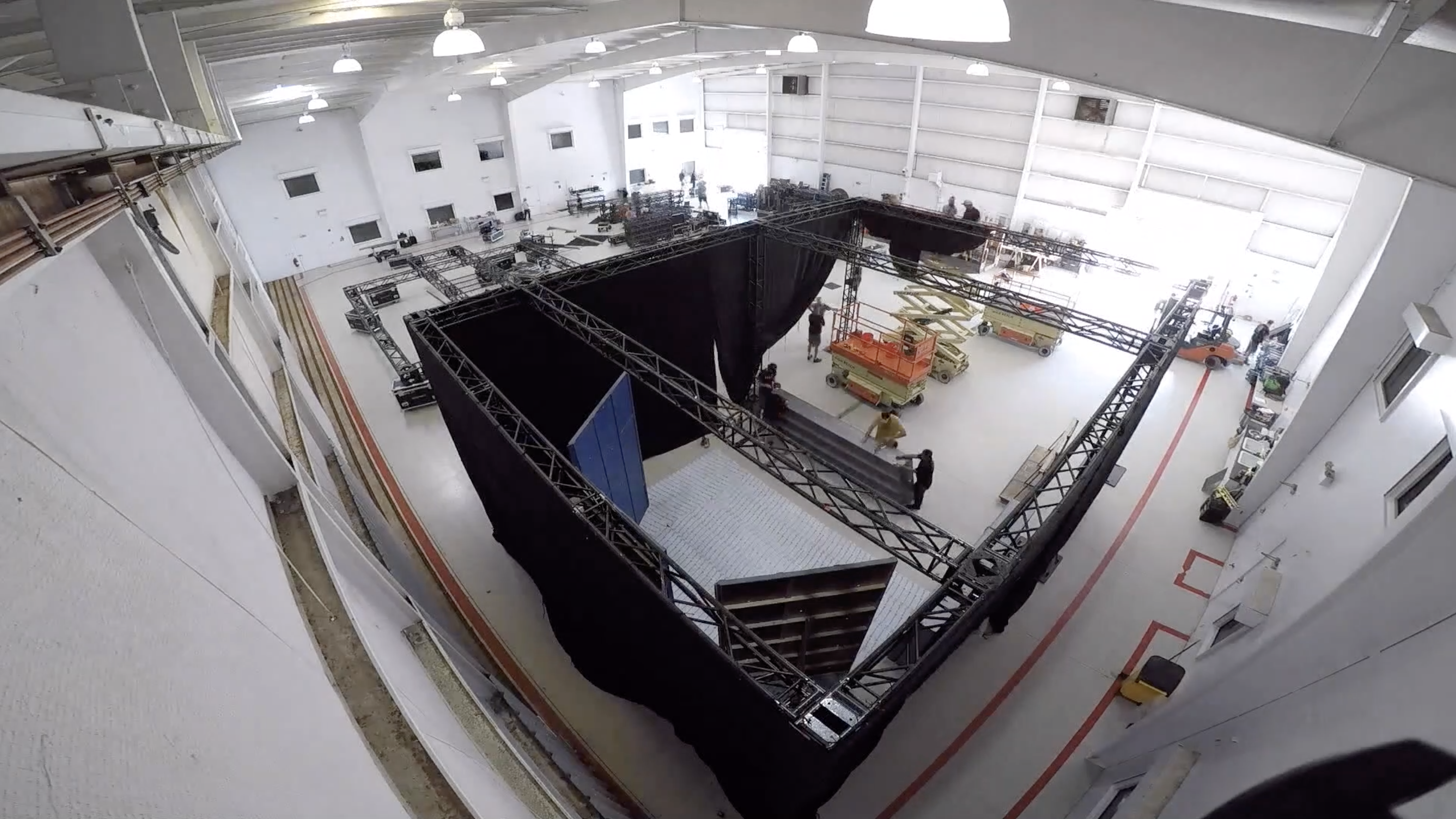 Video: See a timelapse of the Fox Sports NASCAR hangar shoot being put together
