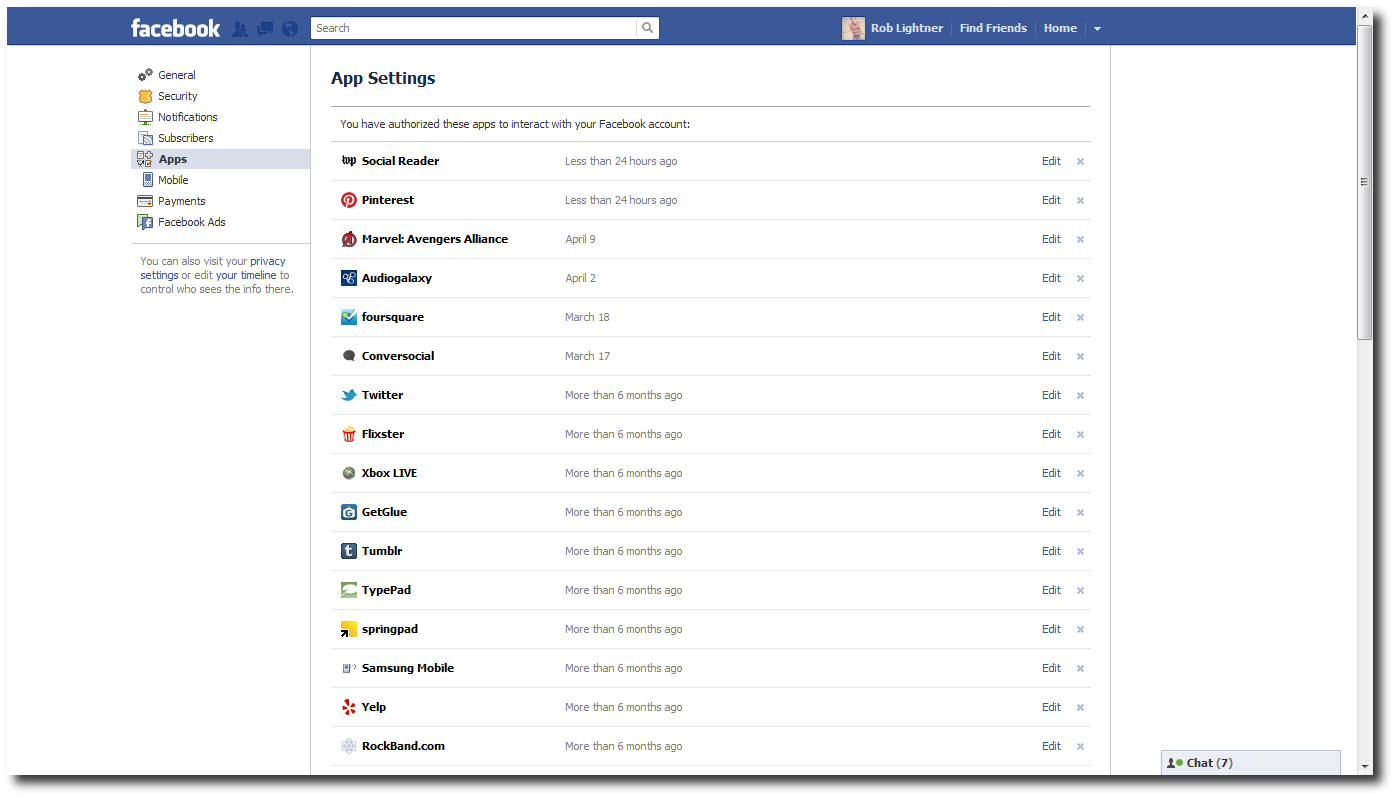 Disable app in Facebook.