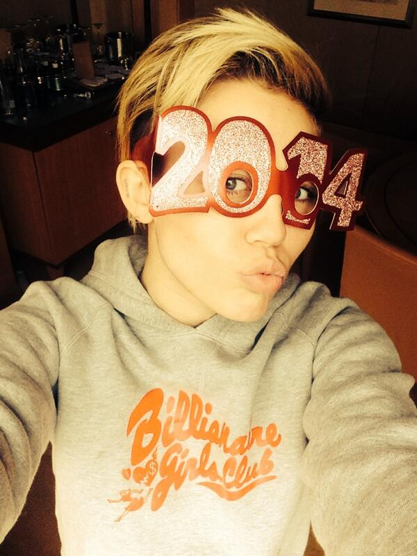 Singer Miley Cyrus both twerks and takes selfies like this one. No word on her opinion of Obamacare.