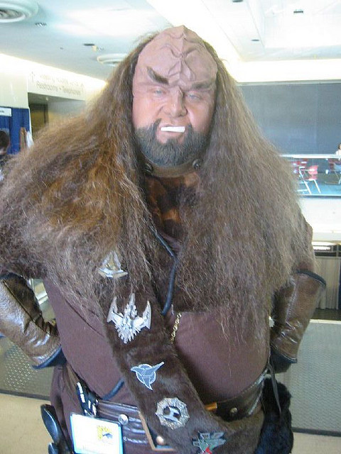 When a Klingon is smiling, it's best to vote his way.