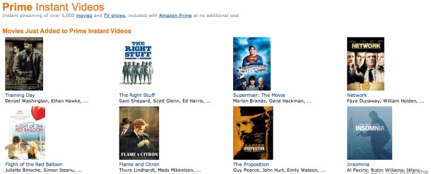 Amazon Instant Video now has 9,000 videos available.