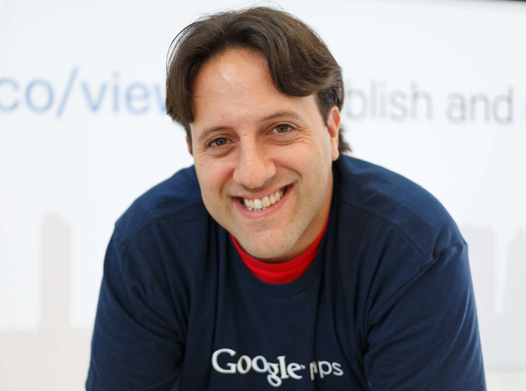 Evan Rapoport, Google's product manager in charge of its Views photo service, at Photokina 2014.