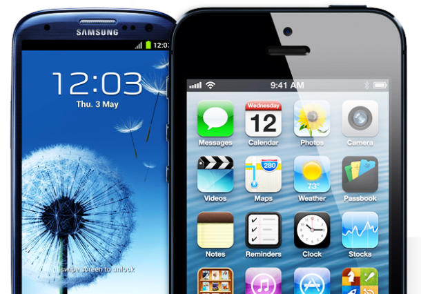 Samsung GS3 and Apple's iPhone 5.