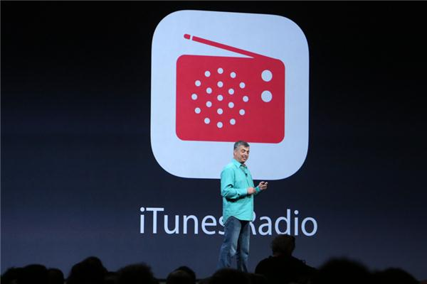 Apple's Eddy Cue introducing iTunes Radio at WWDC in June.