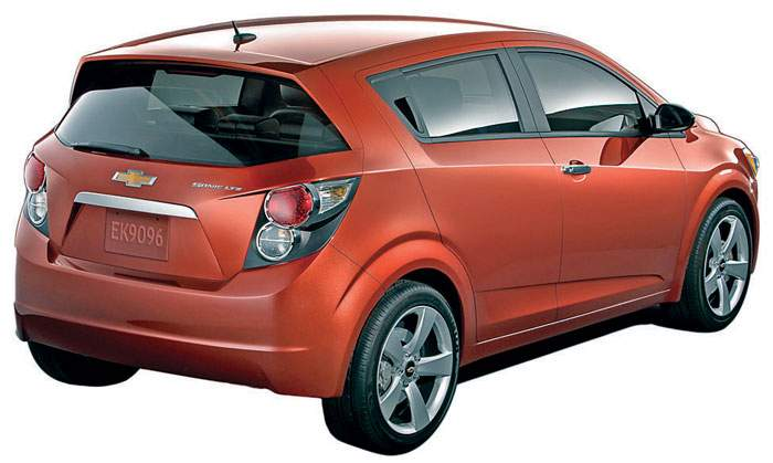 Chevrolet's Sonic will be badged as the Aveo in Japan.