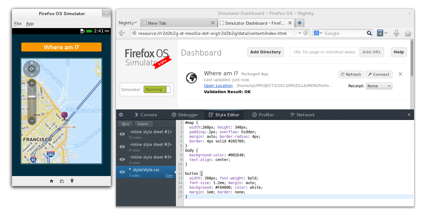 Mozilla's Firefox OS simulator is a Firefox add-on that lets people test their software without an actual phone.