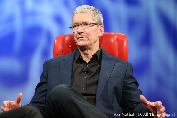 Apple CEO Tim Cook at the D11 conference in late May.