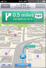 Turn-by-turn directions will bring iOS users something Android owners have had for quite a while.
