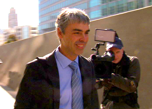Larry Page after testifying