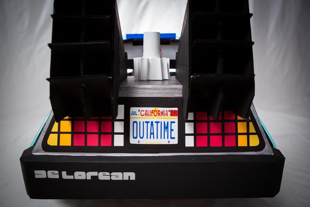 DeLorean from the back