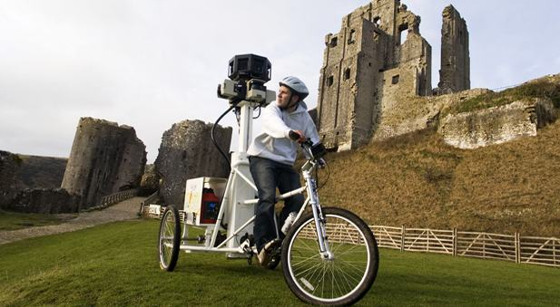 Google's Street View trike was used to photograph various UK historic sites.