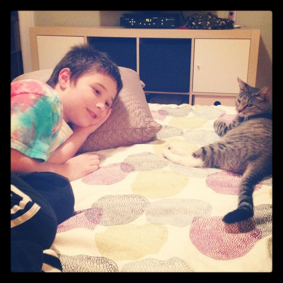 Remi and cat
