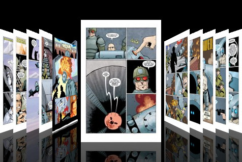 Comixology is an iPhone app for reading comics--they are already working on an iPad version.