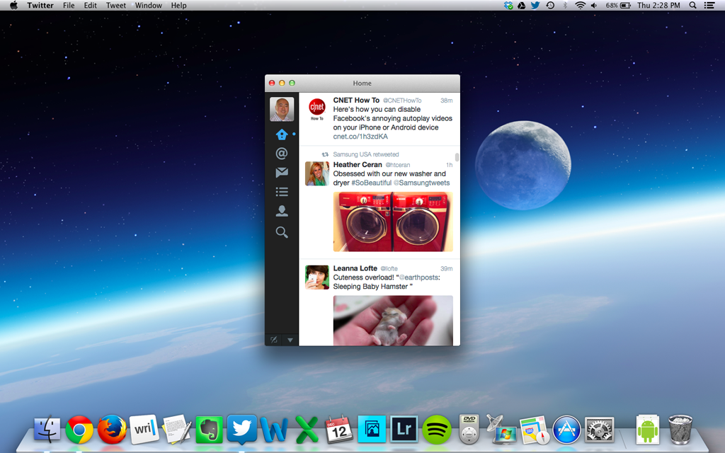 Twitter for Mac desktop