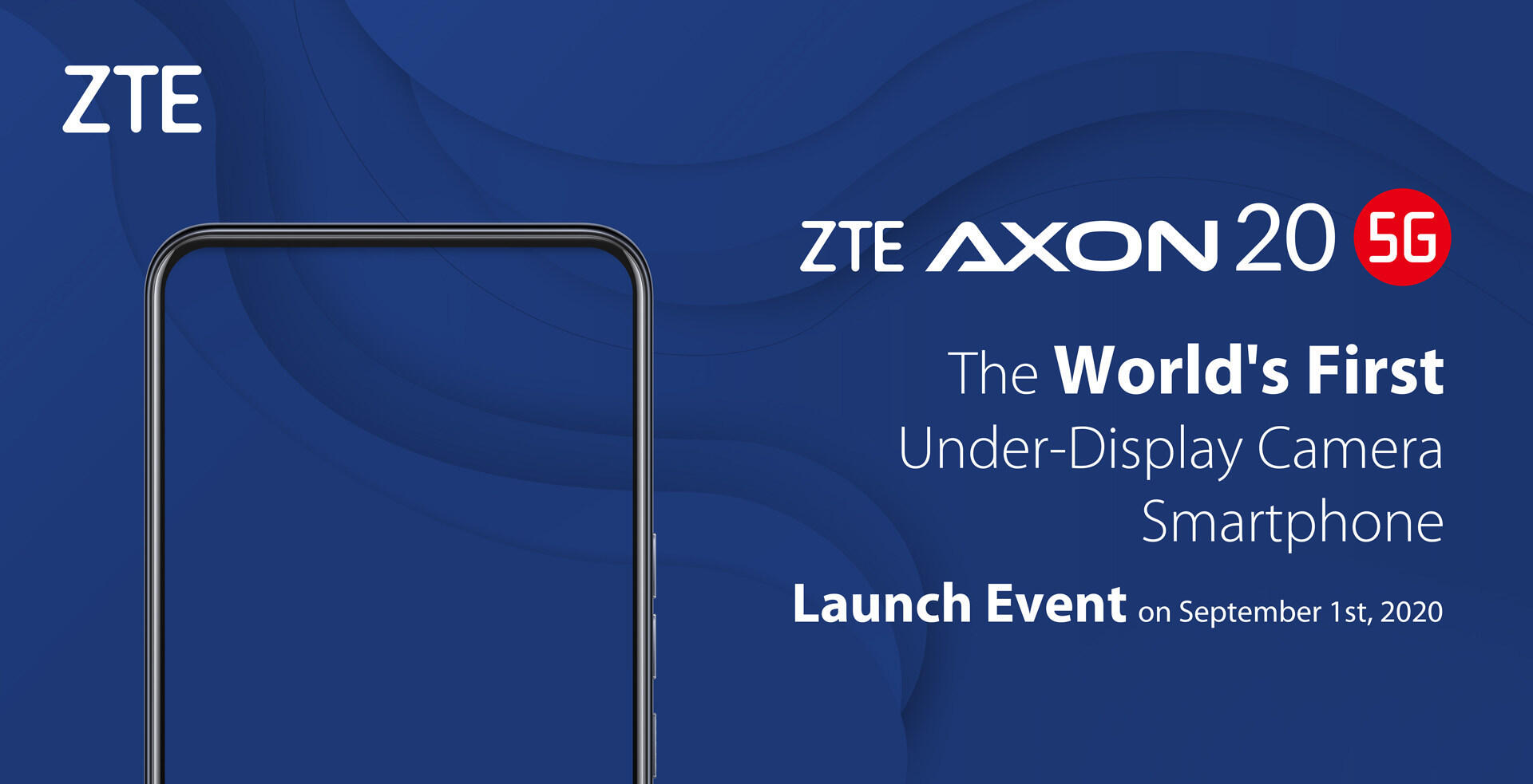 ZTE teases Sept. 1 launch of first phone with a front camera under the display