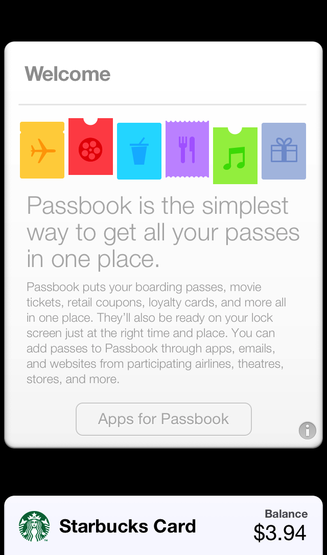 Apple's new explanation of what Passbook does to newbies.