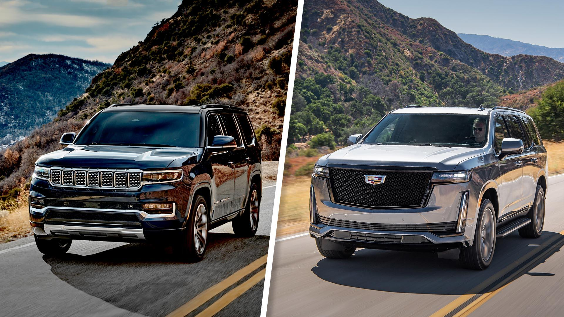Video: 2022 Jeep Grand Wagoneer vs. Cadillac Escalade: Full-size luxury compared