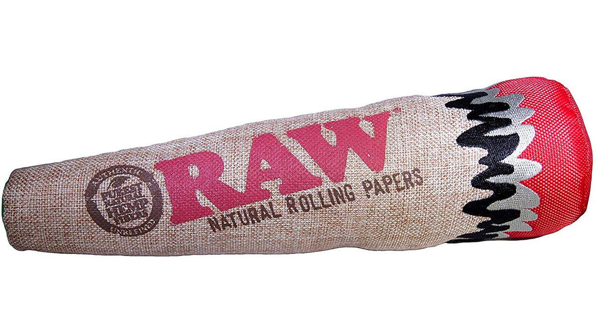 This hemp joint chew toy for your doggo