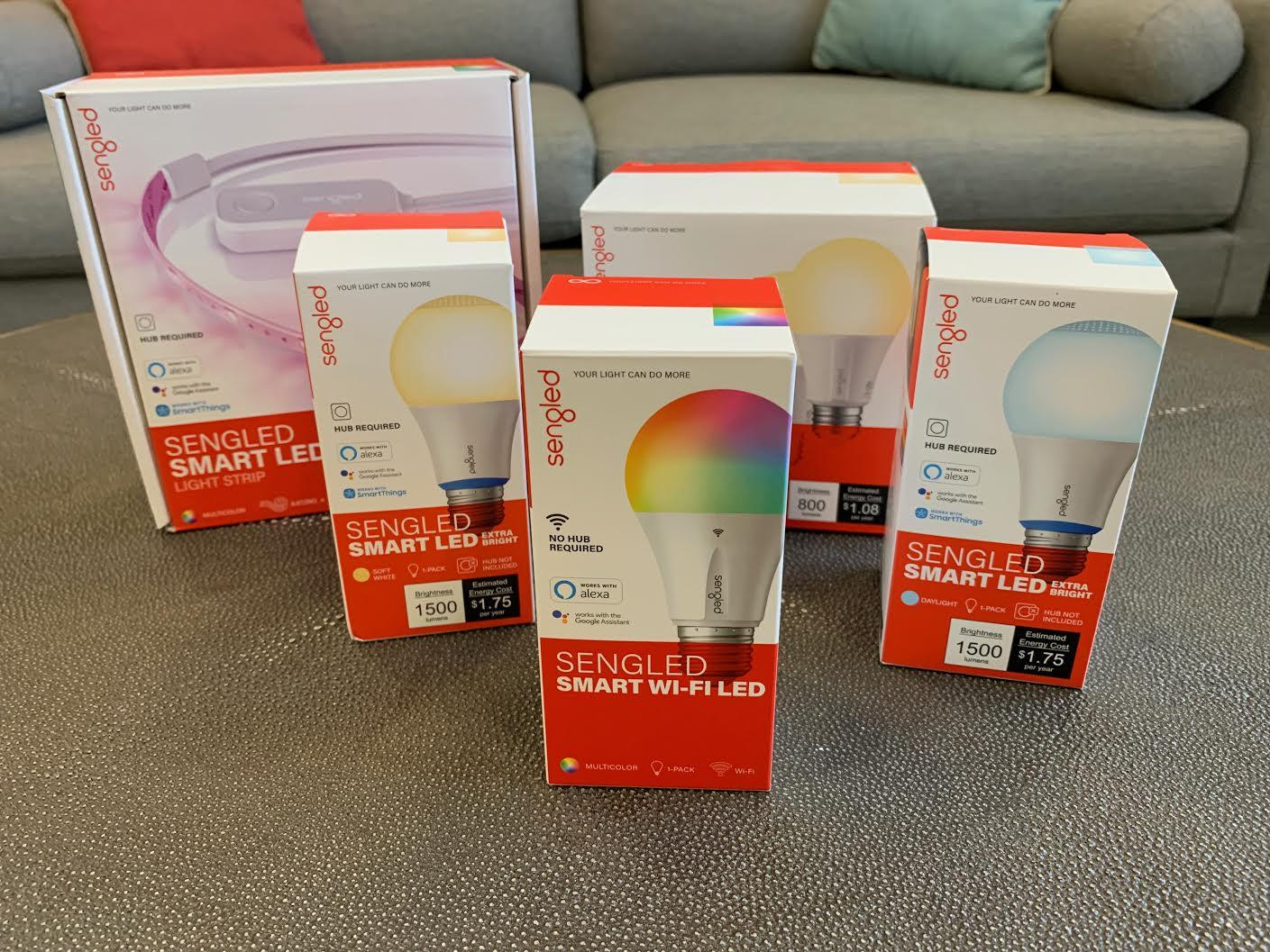 <p>On the left, a multi-color Sengled Wi-Fi bulb that doesn't need a hub. On the right, a daylight Sengled Zigbee bulb that does. Make sure you understand the difference before you buy!</p>