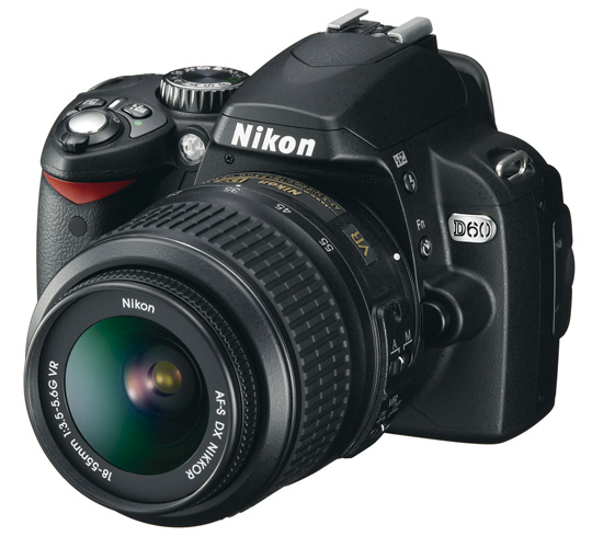 Nikon's new 10.2MP D60 includes a nifty new Air Flow Control dust reduction system.