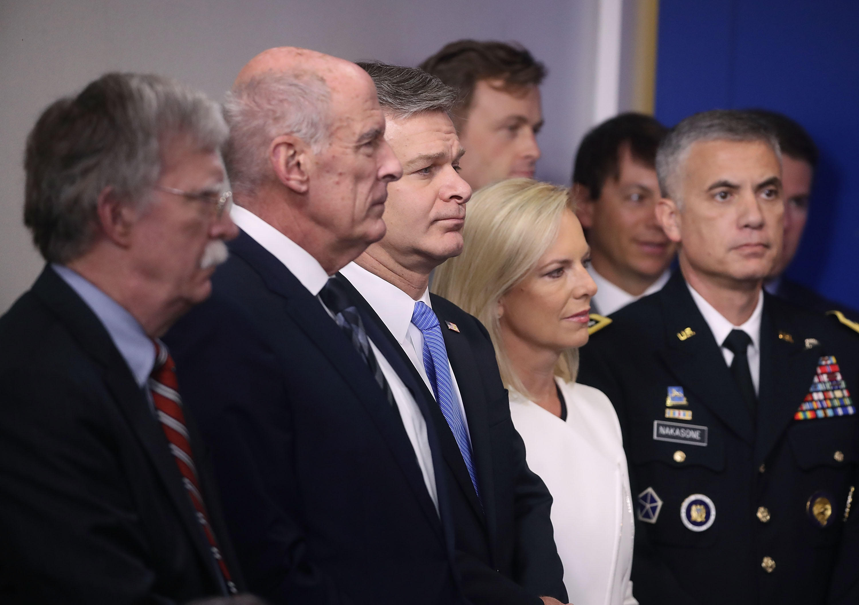Top National Security Officials Join Sarah Sanders At White House Press Briefing