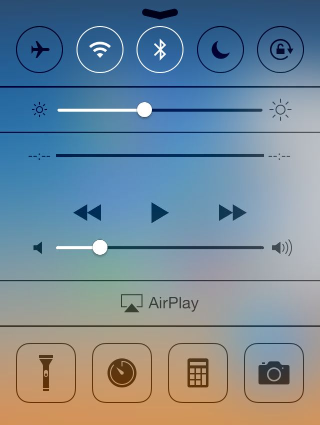 Oh, there they are. iPod controls, that is. Hiding in plain sight inside Control Center.