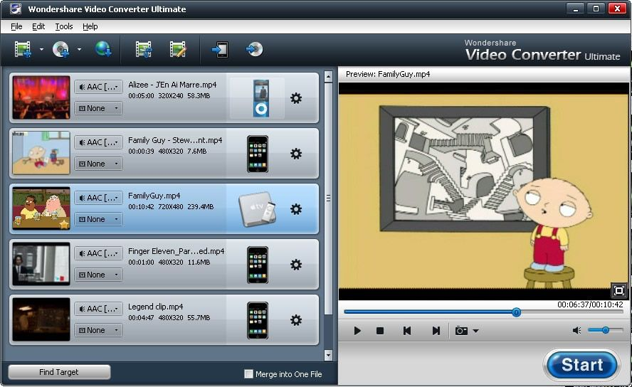 Wondershare Video Converter Ultimate rips and burns DVDs, converts and edits videos, and more!