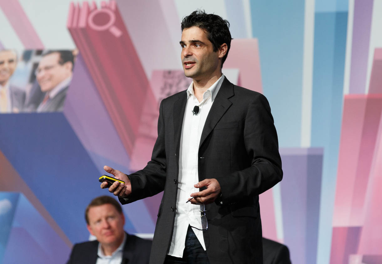 Viber Media CEO Talmon Marco speaks at Mobile World Congress.