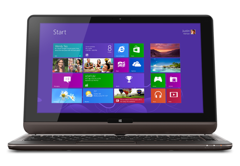 The Toshiba Satellite U925t is a slider-style convertible that comes with a touch screen, Core i5 processor, and 128GB SSD.  Its price has been reduced to $799 from $1,149 at the Microsoft Store.