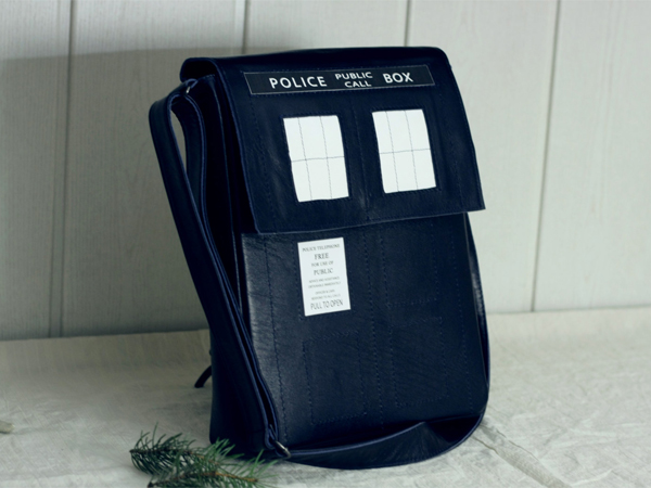Leather TARDIS bag
