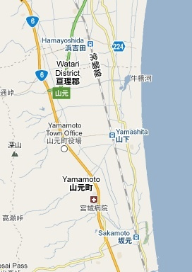 Yamashita is near Yamamoto-cho, which is south of Sendai. In short, ground zero for the Tsunami.