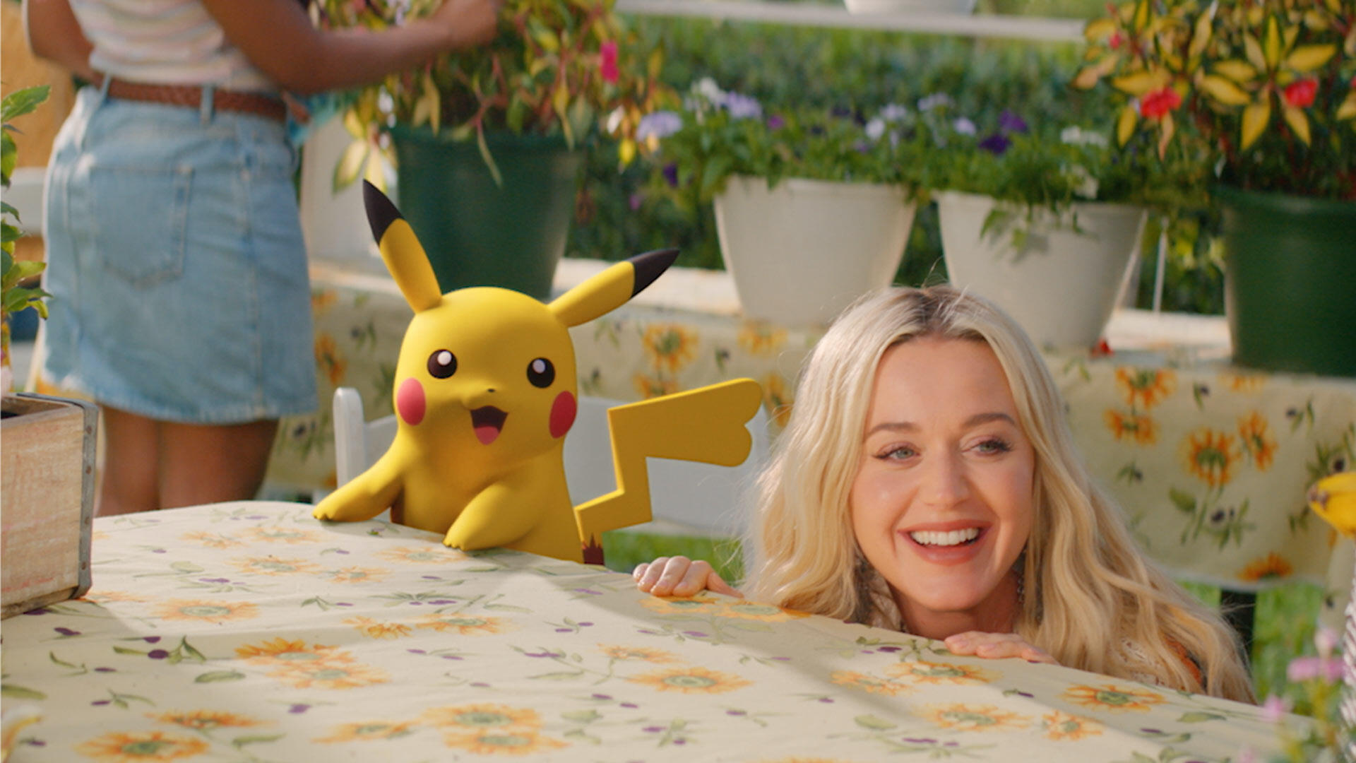 Katy Perry and Pikachu