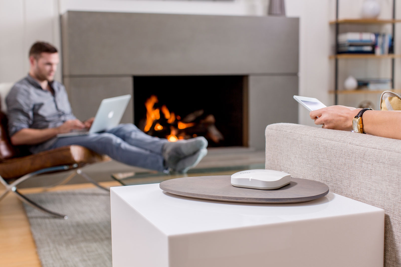 Eero thinks its designs are nice enough for its devices to perch on end tables in the living room.