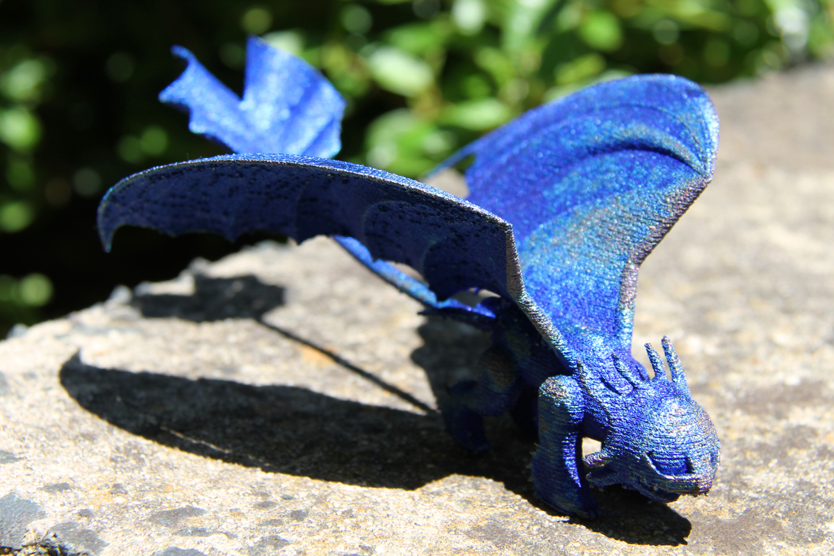 Toothless the Dragon was created from a 3D printer, Titanium and love from scientists at CSIRO's Lab 22 in Melbourne, Australia.