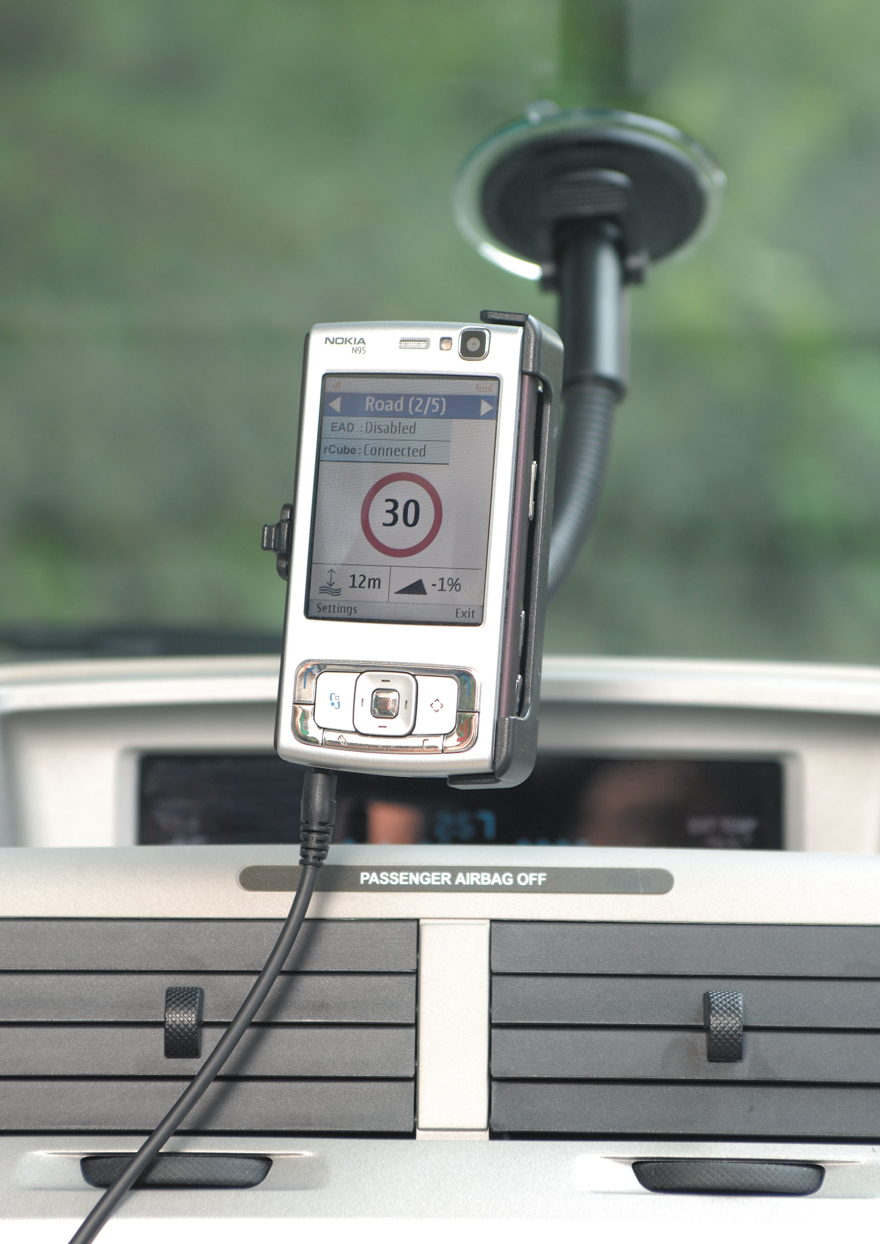 A handheld device in the Sentient shows the vehicle and system telemetry
