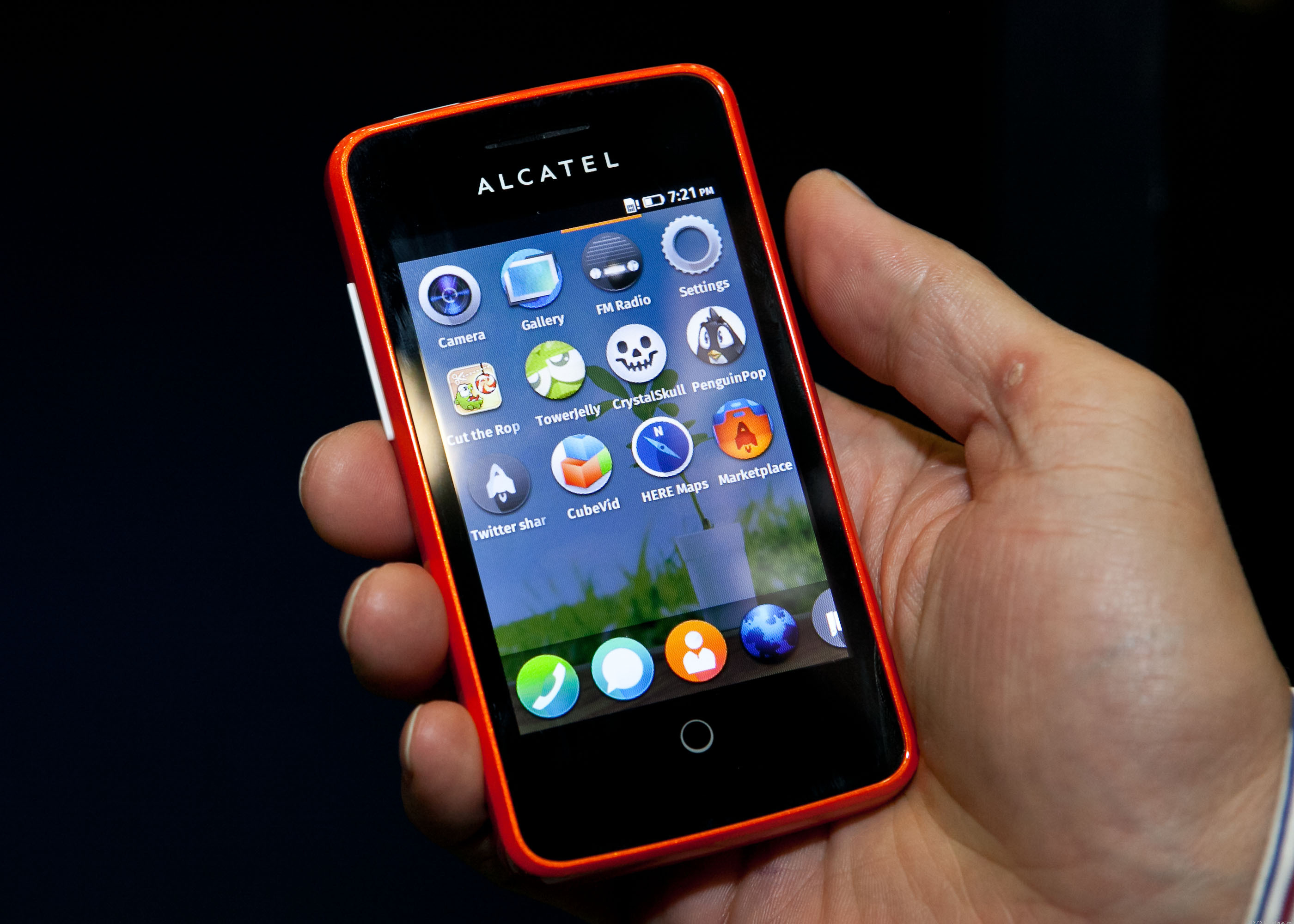 the Alcatel One Touch Fire, a Firefox OS phone