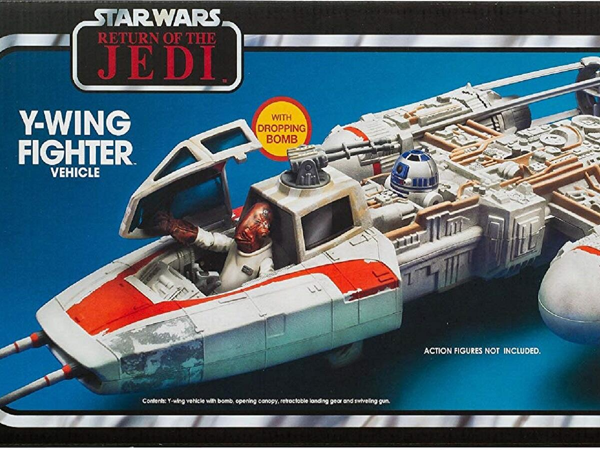 1983 Return of the Jedi Y-wing fighter