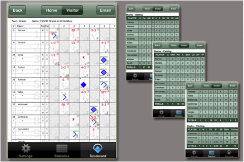 ESPN iScore, available on iOS and Android, lets you score baseball games via your smartphone or tablet.