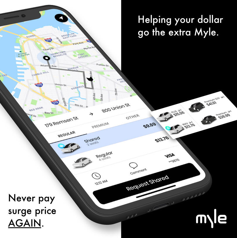 Myle ride-hailing service for NYC