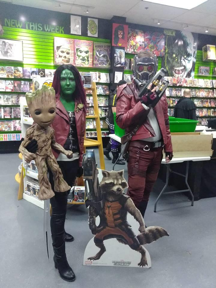 Guardians of the Galaxy cosplay. Wish Groot were real!