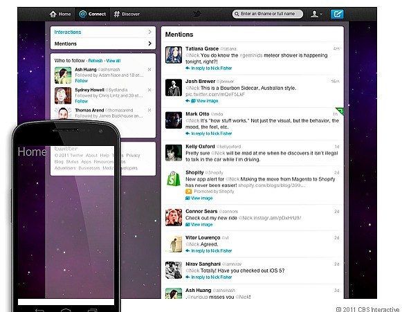 Twitter Connect tab