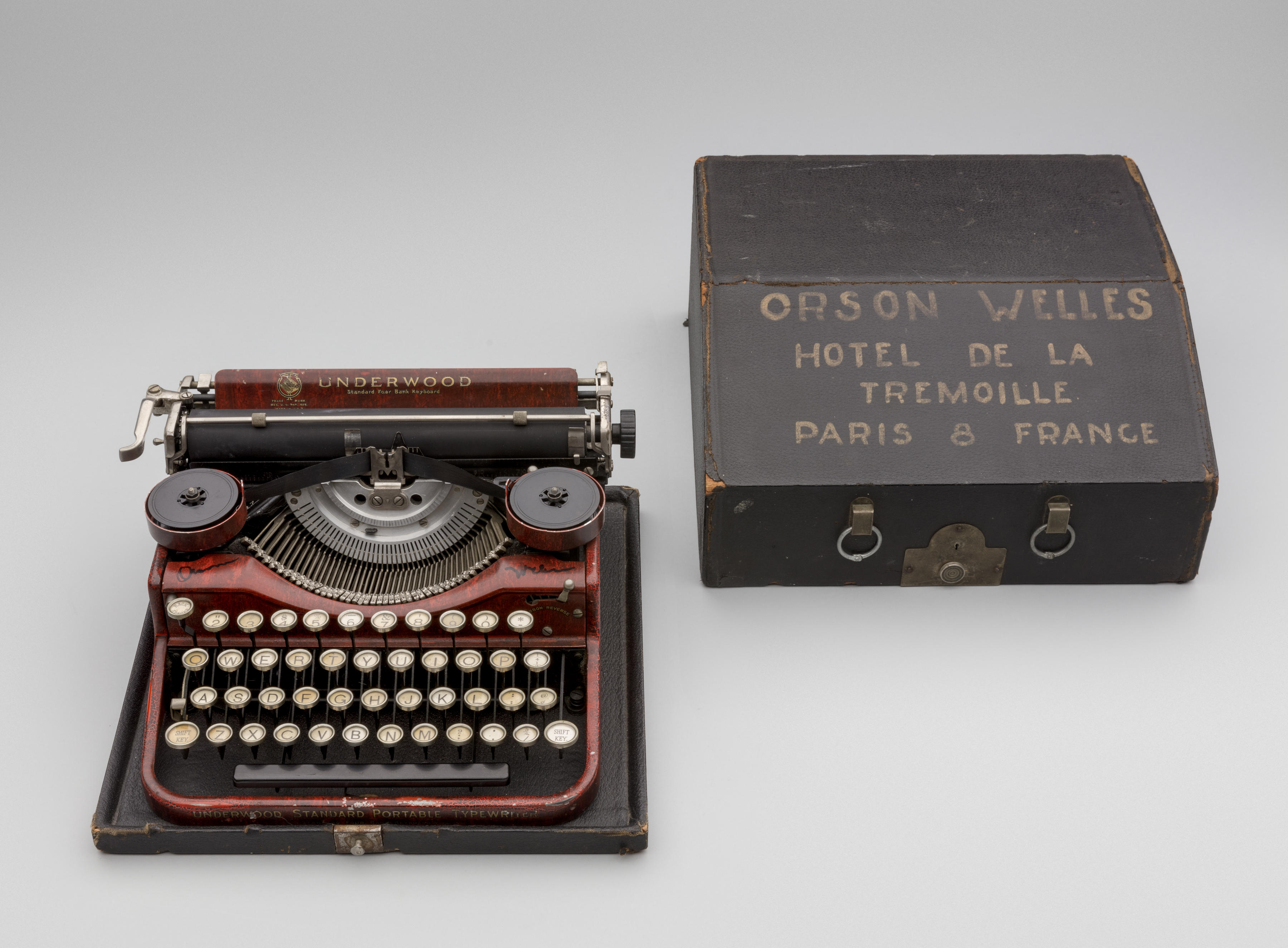 """A typewriter used by Orson Welles, from """"The Typewriter: An Innovation in Writing"""" at the SFO Museum in San Francisco."""