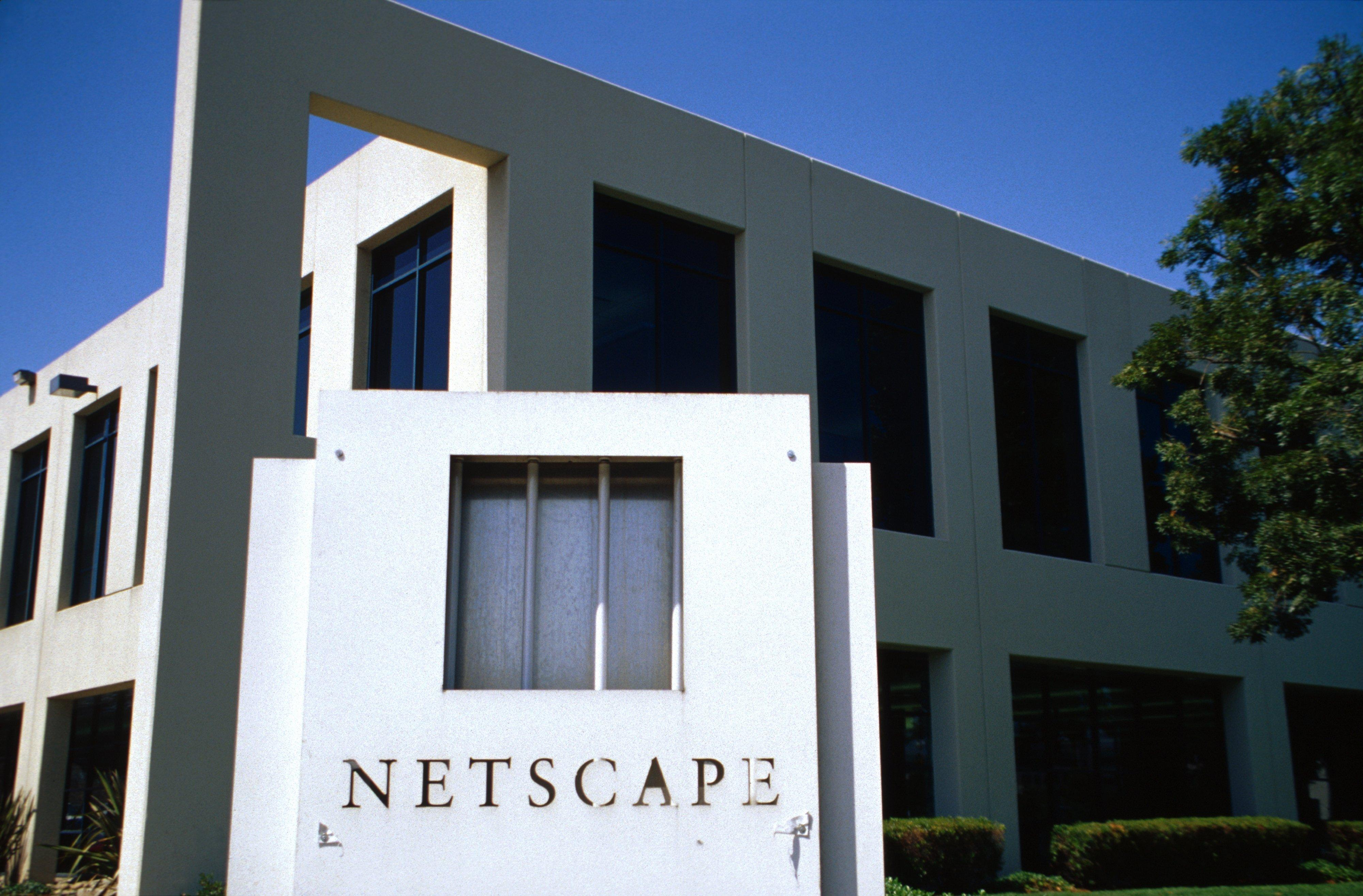 California, Mountain View, Netscape Sign In Disrepair In Silicon Valley