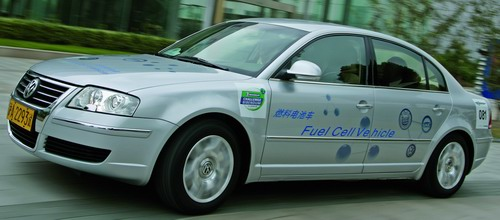 The Volkswagen Lingyu fuel cell electric vehicle prototype
