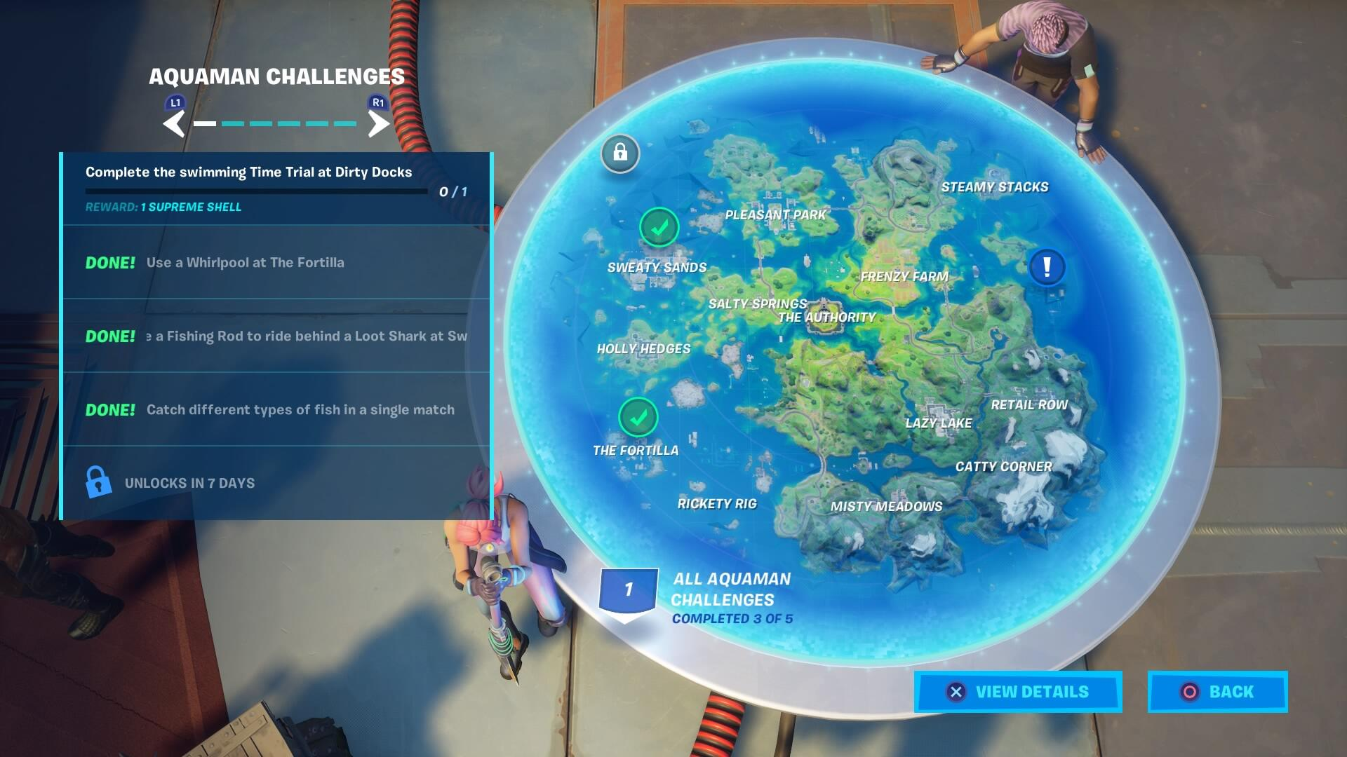 Fortnite Aquaman Challenge