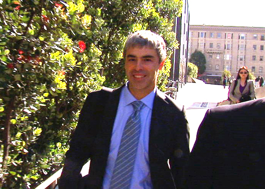Larry Page leaves courthouse April 18 after questioning in Oracle-Google trial
