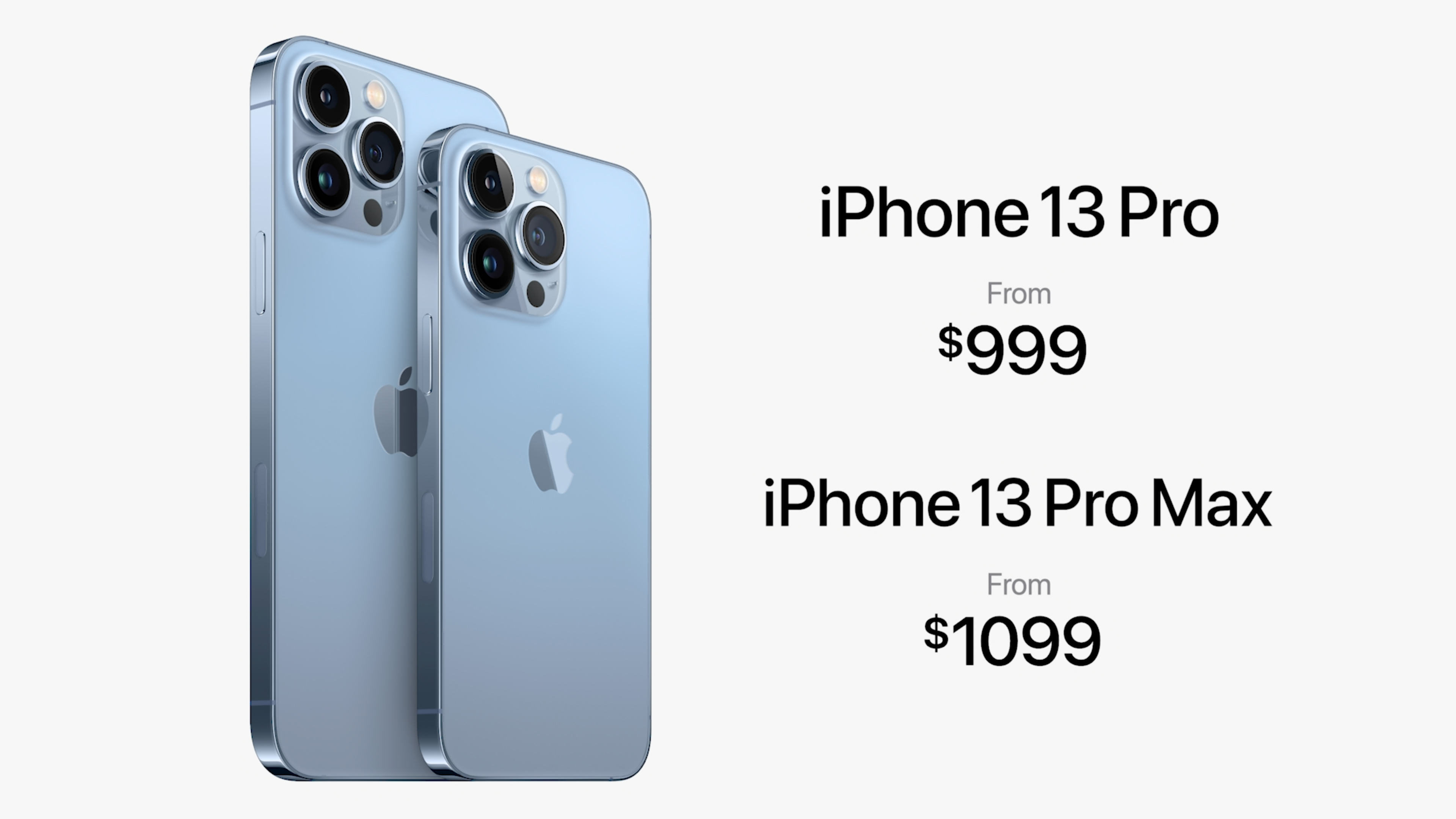 iPhone 13 Pro and Pro Max pricing