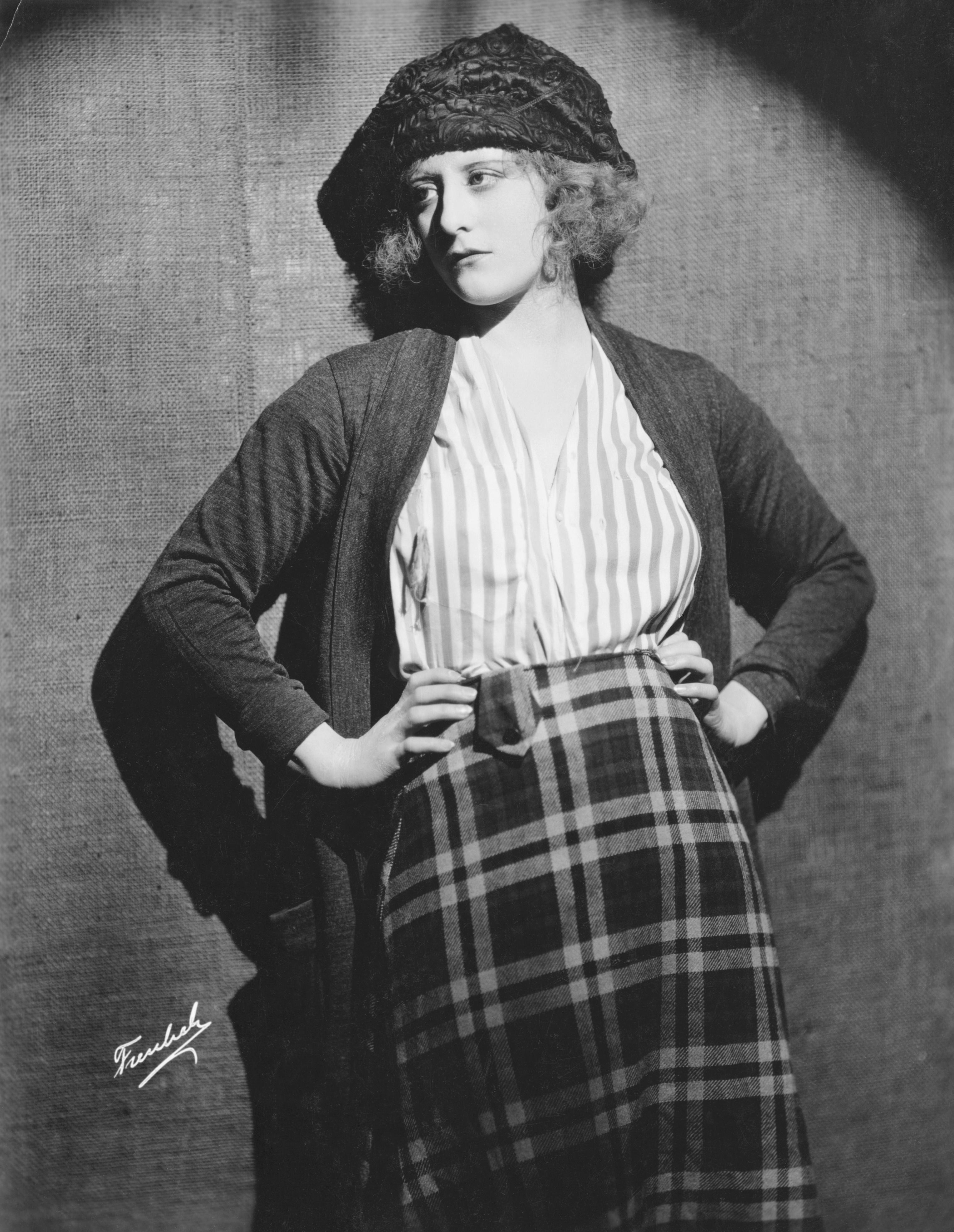 Actress Grace Darmond with Hands on Hips